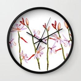 Lilies Wall Clock