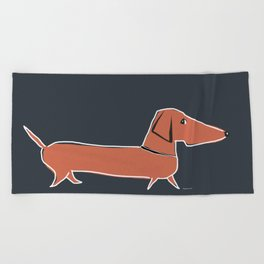 long dog Beach Towel