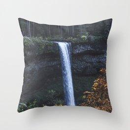 Evening Silver Throw Pillow