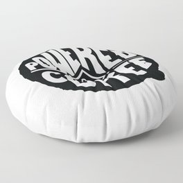 POWERED BY COFFEE Floor Pillow