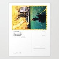 Italy postcard Art Print