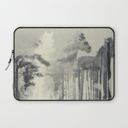 Like a Horse in the woods Laptop Sleeve