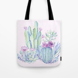 Mixed Cacti Pink #society6 #buyart Tote Bag