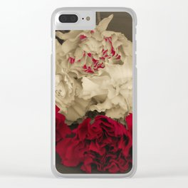 Carnations POP Clear iPhone Case