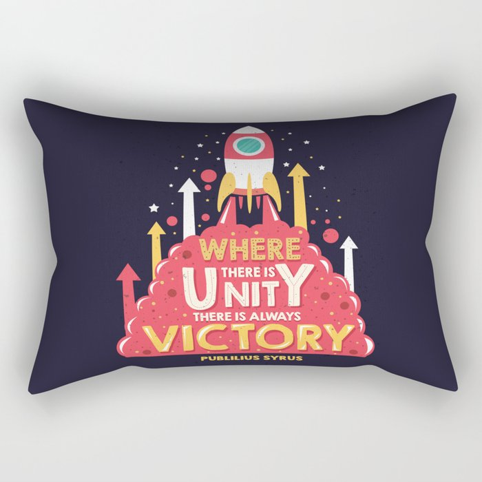 Unity is victory Rectangular Pillow