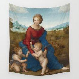 """Raffaello Sanzio da Urbino """"The Madonna of the meadow"""", circa 1506 Wall Tapestry"""