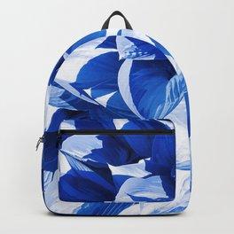 Botanic leafage - cobalt Backpack