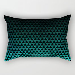 teal triangles Rectangular Pillow