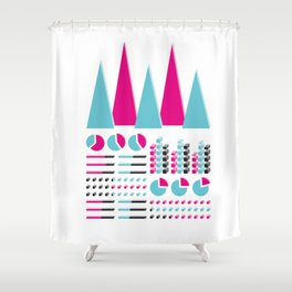 Infographic Selection Shower Curtain