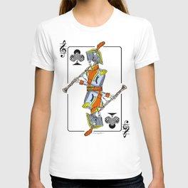 musical poker / Baroque oboe T-shirt