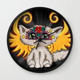 Cat Fairy Wall Clock
