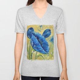 Fleur Bleu Unisex V-Neck