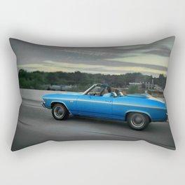 Blue '69 Chevelle Rectangular Pillow