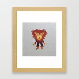 Lion Jungle Friends Baby Animal Water Color Framed Art Print