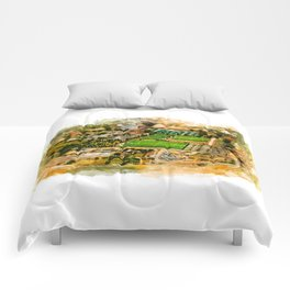 Rome aerial photo Comforters