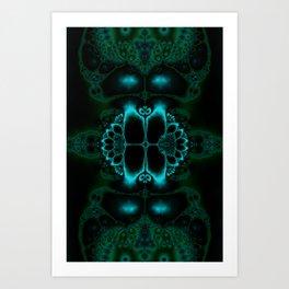 Dark Forest Lotus Fractal Art Print Art Print