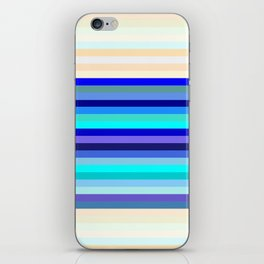 blue kind and latte iPhone Skin