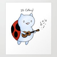 catbug Art Prints featuring Catbug! by Maria Piedra by CobraChampagne