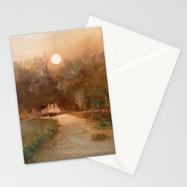 Impressionist Landscape Oil Painting Stationery Cards