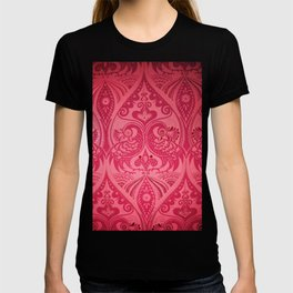 Ornamental Lovebirds Decorative Pink T-shirt