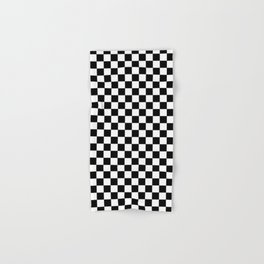 White and Black Checkerboard Hand & Bath Towel