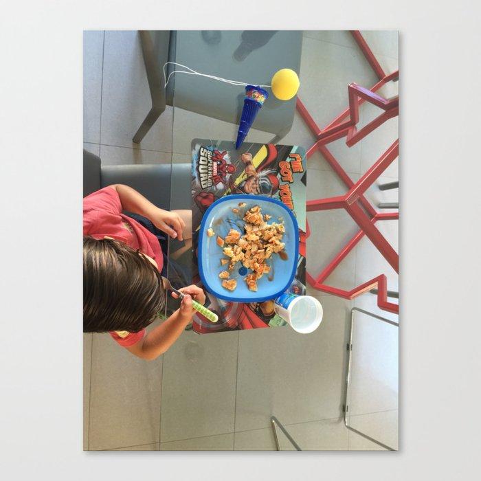 Breakfast Kid Canvas Print