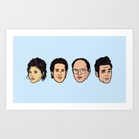 seinfeld Art Prints featuring Seinfeld by Michael Walchalk