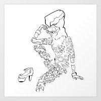 Electric fashion Art Print