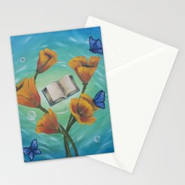 Books and Butterflies Stationery Cards