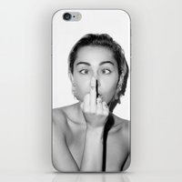 miley iPhone & iPod Skins featuring Miley. by ismaeledits