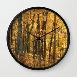 Yellow Woods Wall Clock