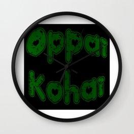 Oppai Kohai in Bubblegum Wall Clock