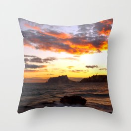 Fine Art Photograph - Spanish Sunset -The dramatic sunset on the West coast of Spain. Throw Pillow