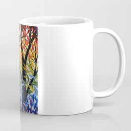 Abstract Art Original Landscape Painting ... Spectrum of Trees Coffee Mug