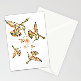 Birds and Flower Stationery Cards