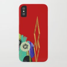 Red Abstract iPhone X Slim Case