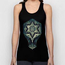 Sacred Geometry for your daily life- SRI YANTRA Unisex Tank Top