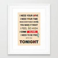 ellie goulding Framed Art Prints featuring I Need Your Love ; Ellie Goulding feat. Calvin Harris by Wis Marvin