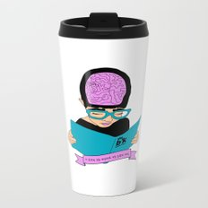 A zine as weird as you are - cream. Metal Travel Mug