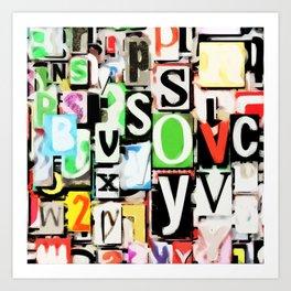 Simply Typography Art Print