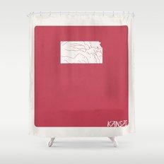 Kansas Minimalist Vintage Map Shower Curtain