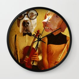 Music Hounds Wall Clock