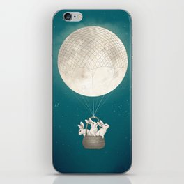 moon bunnies iPhone Skin