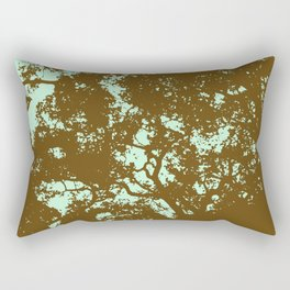 Mint and Brown Forest Rectangular Pillow