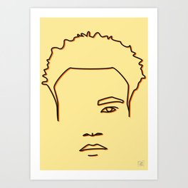 Childish Gambino - Yellow & Orange palette Art Print