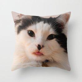 The Oreo Cat: Blep Throw Pillow