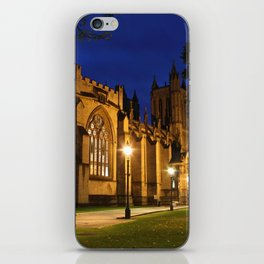 Bristol Cathedral at night iPhone Skin