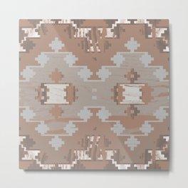 Wood print VII Metal Print
