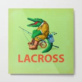 LACROSS ( Green version ) Metal Print