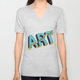 Art cut out design Unisex V-Neck
